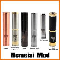 Cheap wholesales 2014 hottest full mechanical mod electronic cigarette black nemesis mod mini nemesis modz 1:1 clone vaporizer copper nemesis mod
