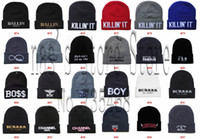 Cheap new arrival winter knitted wool cotton skateboard bboy Beanies Hats Fashion street wear hiphop 5pcs lot caps free shipping
