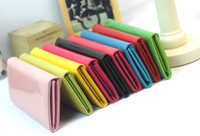best handbag wholesale - Best Candy colors fashion women wallet long style PU leather lady wallets female coin purse handbag money purses mobile bags