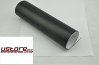 Wholesale 3M high quality D black carbon fiber vinyl sheets car sticker wrap air drain Bubbles Free m thickness mm