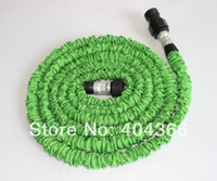 Cheap DHL Free Shipping Wholesales 40pcs lot Hot Sale 75FT Expandable Green Garden Hose With Fast Connector Pocket Hose