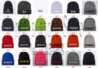 Cheap Hundreds of Beanie hats most fashion skateboard sport caps high quality wool winter knitted wholesale 30pcs lot free shipping