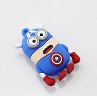Wholesale Cartoon Minions Captain American USB Flash Drive Flash Memory Stick Pen Drive gb gb gb gb gb