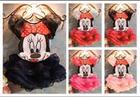 Cheap Wholesale - -Hot 2014 Summer Girl cartoon Mickey mouse Dress Kid Princess lace Dresses Girls minnie mouse tutu Dress