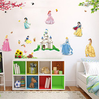 white bedroom furniture - The new children s room wall stickers cartoon stickers backdrop bedroom furniture decoration sticker Snow White DF5102