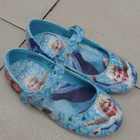Wholesale Children Shoes Popular Frozen Girls Leather Shoes Kids Cartoon Elsa Anna Casual Shoes Beautiful Girls Spring and Autumn Flat Shoes gmy