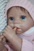 Cheap Wholesale-Free shipping TOP QUALITY 55cm reborn baby doll adorable baby doll for kids' gift