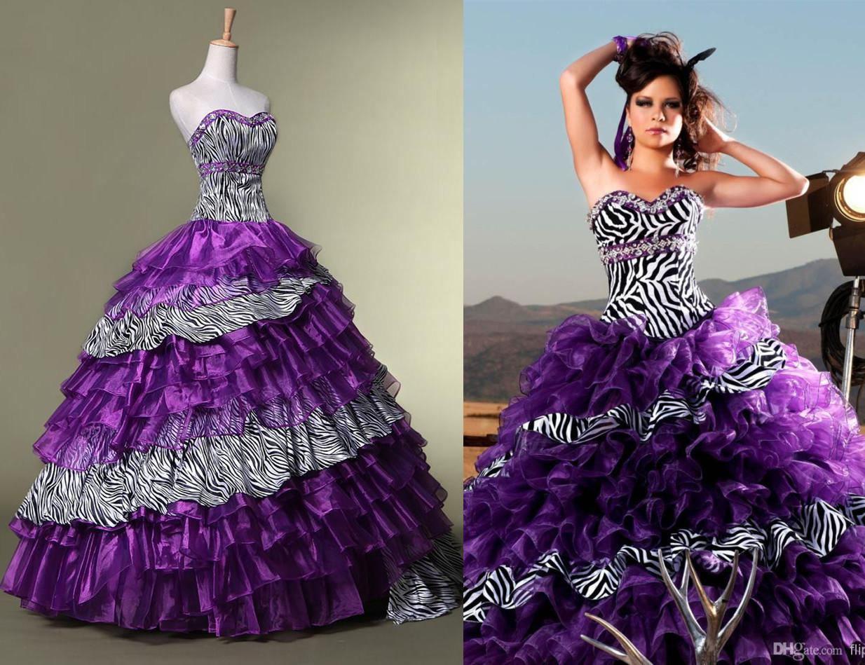 Quinceanera Dresses Purple And Zebra on Quotesfab.com