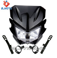 Wholesale HEADLIGHT HEAD LAMP BLACK STREETFIGHTER DIRT BIKE KLX CRM XR DRZ RMZ RM250 YZ WR MOTORCYCLE ACCEESSORIES PAZOMA