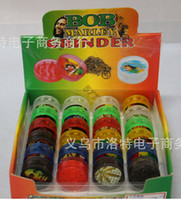 Wholesale OP pc layers plastic herb Grinder Tobacco Spice Crusher hand muller rolling machine snuff snorter vaporizer