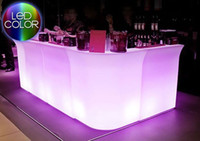 led bar table - Luminous LED Bar Counter SL LBC8301 PolyDeco Bar LED Bar Table JUMBO waterproof rechargeable Rundbar LED Bartresen furniture for bars party