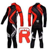 Wholesale Gi Ride Life Cycling Jersey Sets Long Sleeve Compressed Jerseys and D Padded Pants Cycling Clothing