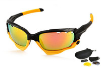 Resin Lenses yellow frame sunglasses - 2014 Year Black Yellow Frame Sunglasses Eyewear Glasses Sport UV400 Lens Sunglasses Lens Goggles Colors
