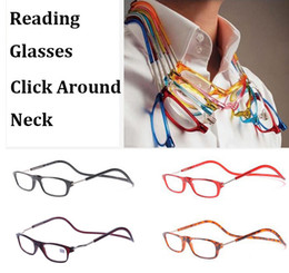 Wholesale Reading Glasses Magnetic Click Hang Around Never Loose again