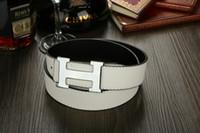 Belts Standard Standard Free Shipping Silver Buckle Men Women Belt Strap Genuine PU Leather Men's Belts Women's Straps Classic Brand Waistband
