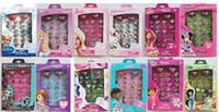 Cheap 10 box 300pcs Cartoon Style! Frozen Princess Mix Order Fashion Finger Children's Cartoon Ring