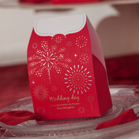 Wholesale Asian Theme Starlit Red Wedding Candy Gifts Favors Boxes Set of