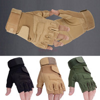 Wholesale 2016 Hot Special Outdoor Sports Motorcycle Goalie Tactical Gloves Fingerless Airsoft Combat Mittens SV001927