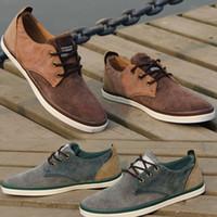 Wholesale Autumn Korean Men s Canvas Lace Up Shoes Daily Leisure Comfortable Casual Flat Shoes