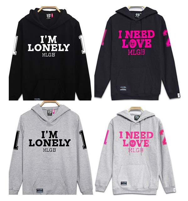 2017 Personalized Letters I Need Love Number 12 Hoodies ...
