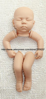 Wholesale quot Reborn Baby Doll Kit soft Silicone Vinyl lifelike baby Dolls Kit Head Arms Full Legs closed eyes