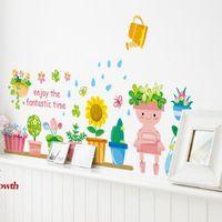 Wholesale cartoon wall stickers living room bedroom children s room nursery pot wall stickers AM815