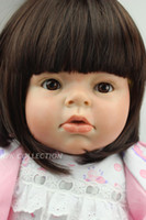 """Cheap Wholesale-27.5"""" Reborn Baby Lovely Artificial Silicone Doll Girl toys Chirdren Gift"""