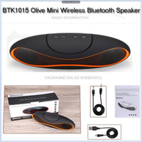 Wholesale New BTK1015 Olive Mini Wireless Bluetooth Speaker with MIC Support Micro SD TF U Disk AUX FM Hands Free Call Rechargeable Wireless Speaker
