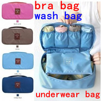 Wholesale travel washing portable underwear pouch bra bag storage package socks wash cosmetic box case for girl lady women