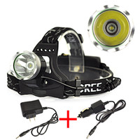 Cheap Sales promotion1x CREE XM-L XML T6 LED 1800Lm Rechargeable Headlamp Headlight Head lamp + AC Charger Car charger FREE SHIPPING