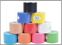 Wholesale 5cm x m Kinesiology Kinesio tape Roll Cotton Elastic Adhesive Muscle Sports Tape Bandage Physio Strain Injury Support