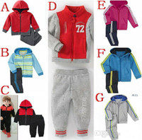 Wholesale Fashion New children s shampooers jogging tracksuits sport set hooded coat pants kids baby boys Spring Autumn cartoon clothes Suit sets