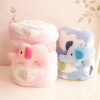 Wholesale 2014 Autumn Winter Baby Soft Elephant Coral Blankets Baby Bath Towel Baby Air Conditioning Quilt Baby Blankets Colors