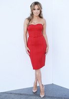 Wholesale Original Strapless Tube Sexy Red Celebrity Bandage Dress Women Cocktail Club Party Dresses h943 Bow New Arrival