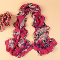Wholesale min order new style Scarves women s butterfly scarf shawl spring summer cape silk pashmina chiffon tippet muffler