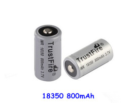 Stock offer trustfire 18350 18650 battery trust fire rechargeable lithium ion battery 800mah 1200mah 18350 li-ion battery with best price