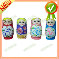 Wholesale Lovely Wood Russian Nesting Dolls Matryoshka Wooden Interior Decoration Decor Dropshipping