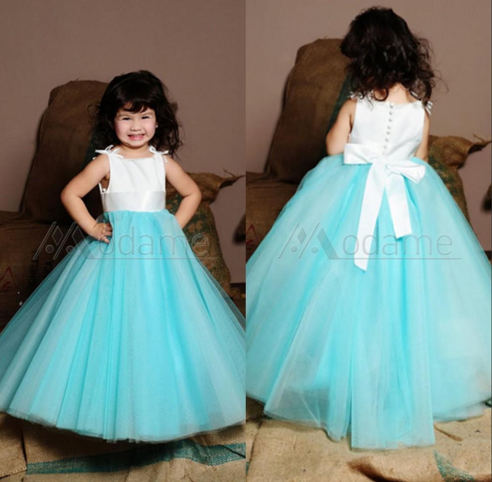 Turquoise Flower Girl Dresses