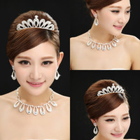 Wholesale Low Price real image High Quality Hair Accessories Crystal Bridal Tiaras and Neckline Wedding Tiaras In Stocks Queen s crown