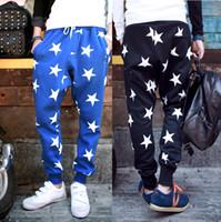 Wholesale 2014 New Men Printed Drop Crotch Harem Skinny Sweatpants Sports Baggy Pants Mens Casual Hip Hop Joggers Silm Bandana Trousers