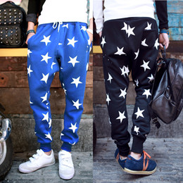 Wholesale 2014 New Men Printed Drop Crotch Harem Skinny Sweatpants Sports Baggy Pants Mens Casual Hip Hop Joggers Silm Bandana Trousers