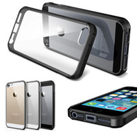 Wholesale SGP Slim Hybrid Case TPU bumper Clear Crystal Transparent Rear Panel Cover for iPhone S iPhone inch MOQ