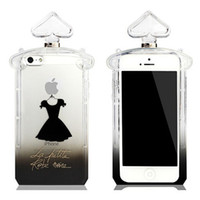 Wholesale new for iPhone5s little black dress perfume bottles TPU mobile phone sets