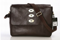 Wholesale men chocolate Smooth Touch Leather Bag Fashion briefcases
