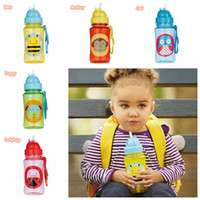 Wholesale SKP Baby Water Bottle BPA Free Cartoon Animal Deisgns Straw Drinking Cups Mug Feeding Leak Proof Sports Bottles J0064