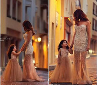 Organza bh - Fashion Dresses Custom Make Flower Girl Dress Beaded Little Girl Dresses Princess Gown Mother And Daughter Dresses New Hot Sale BH