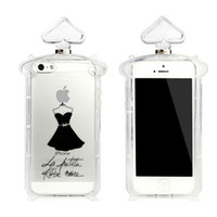 Wholesale new for iPhone5s little black dress perfume bottles TPU mobile phone sets White