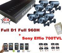 Cheap Ultra HD 8CH Full D1 960H DVR 700TVL 72IR Varifocal Sony CCD Effio Outdoor HDMI CCTV Security Camera System With 1000GB HDD