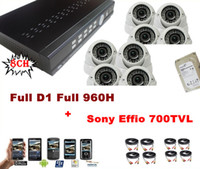 S-8708S-IS osd atr Ultra HD 8CH Full D1 Full 960H DVR 700TVL IR Varifocal Sony CCD Effio Dome HDMI CCTV Security Camera System With 1000GB HDD