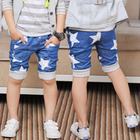 Wholesale 2016 Summer Boys Shorts Children Baby White Star Short Pants Kids Clothes Size